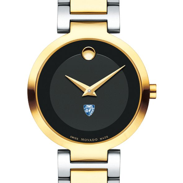 Johns Hopkins University Women's Movado Two-Tone Modern Classic Museum with Bracelet