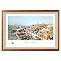 Historic University of Pennsylvania Watercolor Print