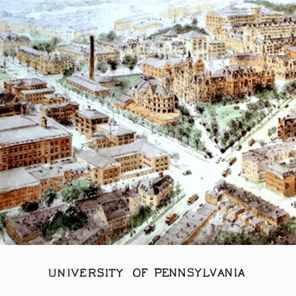Historic University of Pennsylvania Watercolor Print - Image 2