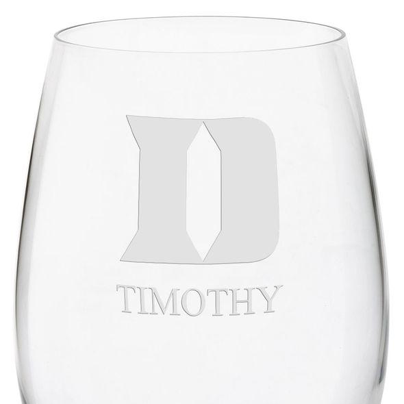 Duke University Red Wine Glasses - Set of 2 - Image 3