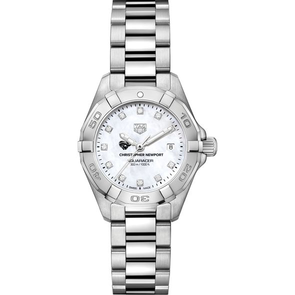 CNU Women's TAG Heuer Steel Aquaracer with MOP Diamond Dial - Image 2