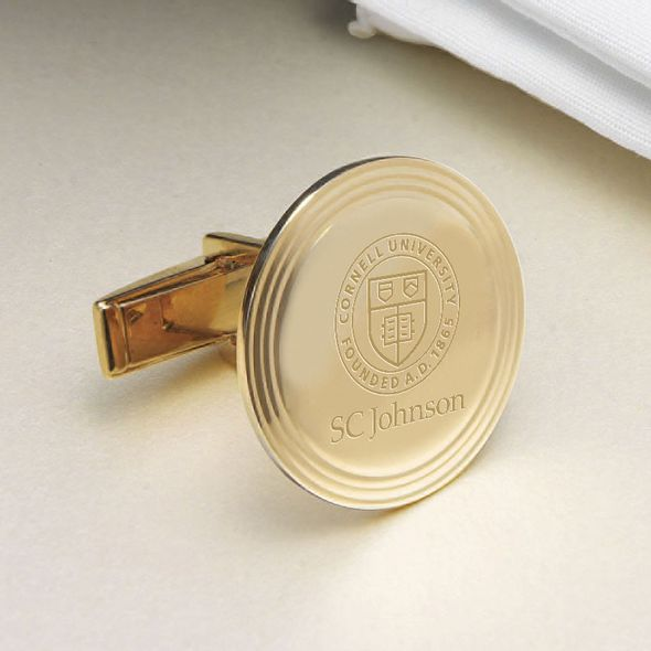 SC Johnson College 14K Gold Cufflinks - Image 2