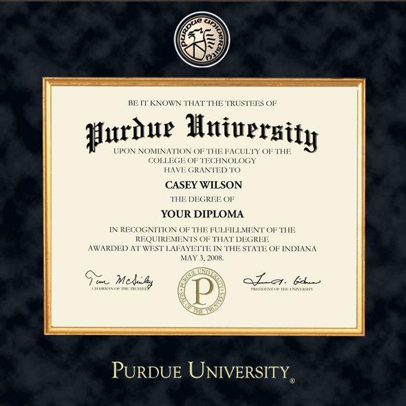 Purdue University Bachelors Diploma Frame - Excelsior - Image 2