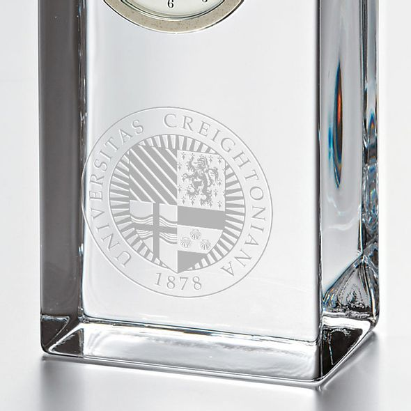 Creighton Tall Glass Desk Clock by Simon Pearce - Image 2