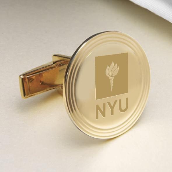 NYU 18K Gold Cufflinks - Image 2