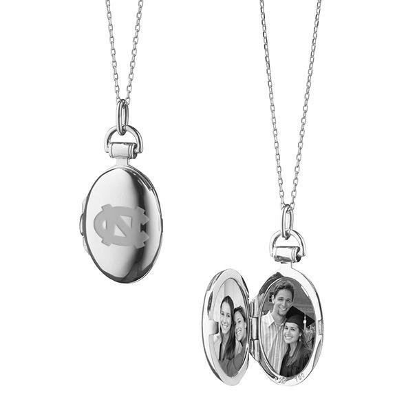 University of North Carolina Monica Rich Kosann Petite Locket in Silver