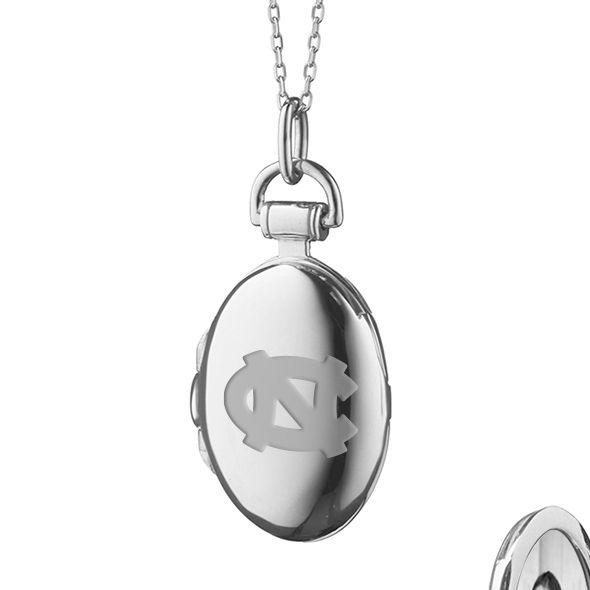 University of North Carolina Monica Rich Kosann Petite Locket in Silver - Image 2