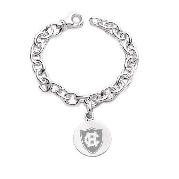 Holy Cross Sterling Silver Charm Bracelet