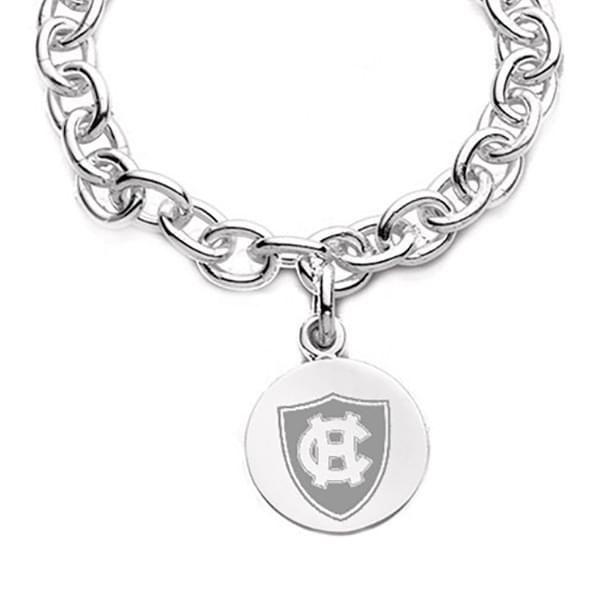 Holy Cross Sterling Silver Charm Bracelet - Image 2