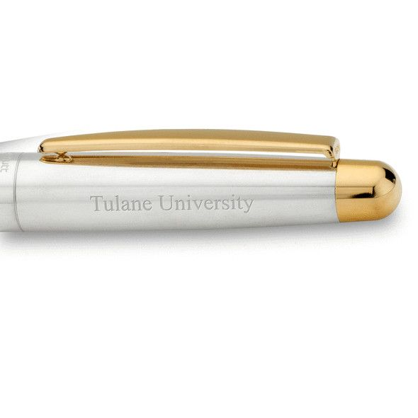 Tulane University Fountain Pen in Sterling Silver with Gold Trim - Image 2