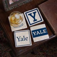 Yale Logos Marble Coasters