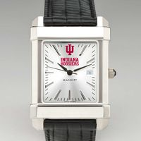 Indiana University Men's Collegiate Watch with Leather Strap