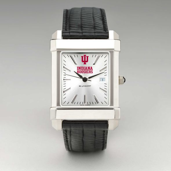 Indiana University Men's Collegiate Watch with Leather Strap - Image 2