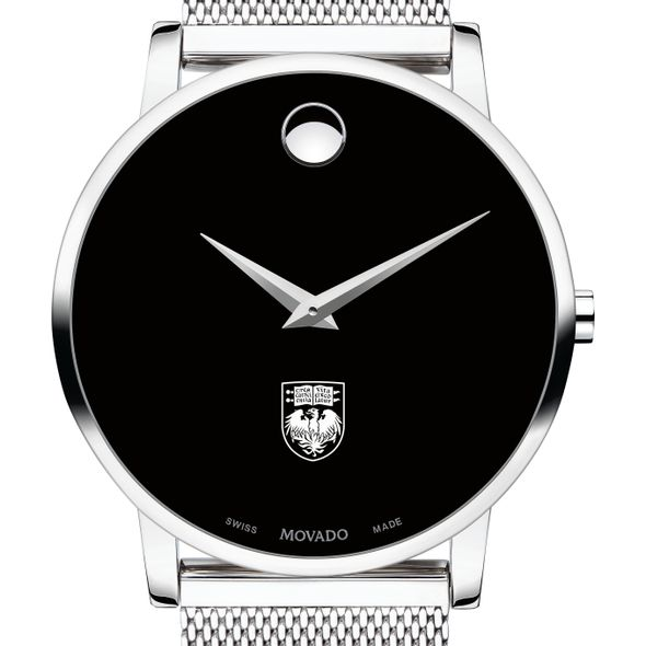 University of Chicago Men's Movado Museum with Mesh Bracelet