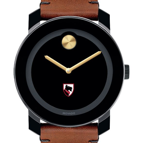 Carnegie Mellon University Men's Movado BOLD with Brown Leather Strap