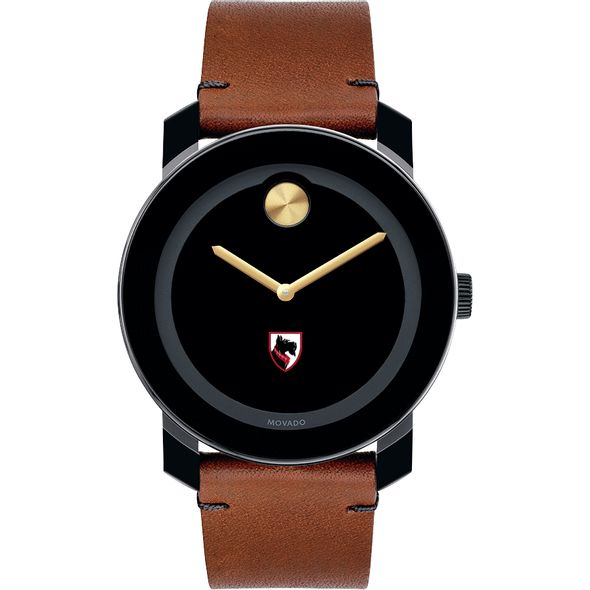 Carnegie Mellon University Men's Movado BOLD with Brown Leather Strap - Image 2