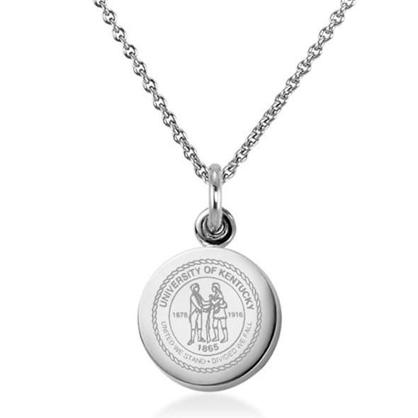University of Kentucky Necklace with Charm in Sterling Silver