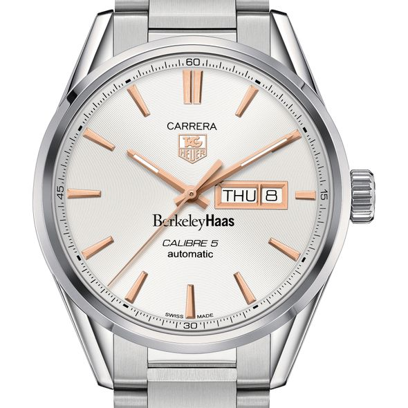 Berkeley Haas Men's TAG Heuer Day/Date Carrera with Silver Dial & Bracelet