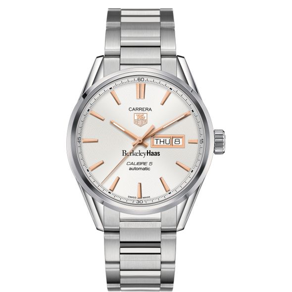 Berkeley Haas Men's TAG Heuer Day/Date Carrera with Silver Dial & Bracelet - Image 2