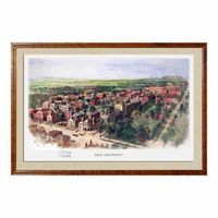 Historic Yale University Watercolor Print