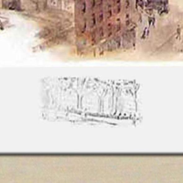 Historic Yale University Watercolor Print - Image 3