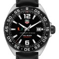 University of Miami Men's TAG Heuer Formula 1 with Black Dial - Image 1