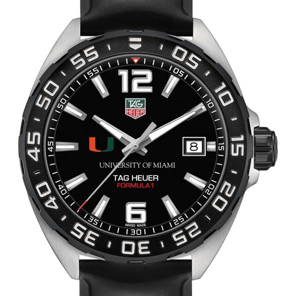 University of Miami Men's TAG Heuer Formula 1 with Black Dial
