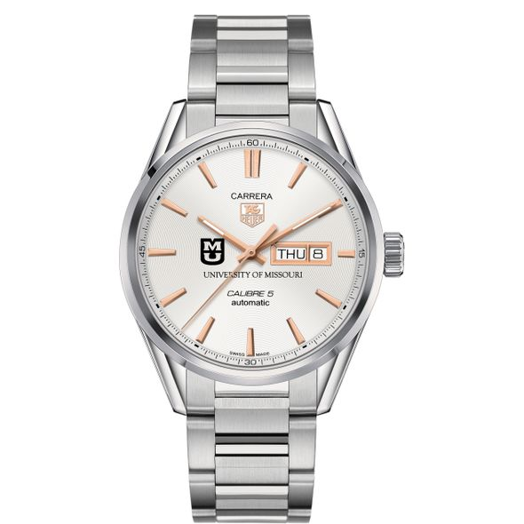 Missouri Men's TAG Heuer Day/Date Carrera with Silver Dial & Bracelet - Image 2