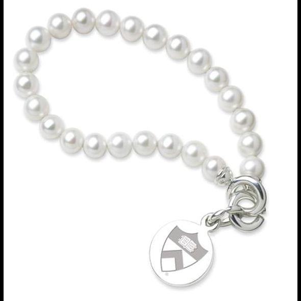 Princeton Pearl Bracelet with Sterling Silver Charm