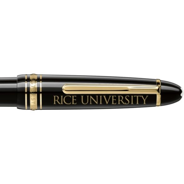 Rice University Montblanc Meisterstück LeGrand Ballpoint Pen in Gold - Image 2