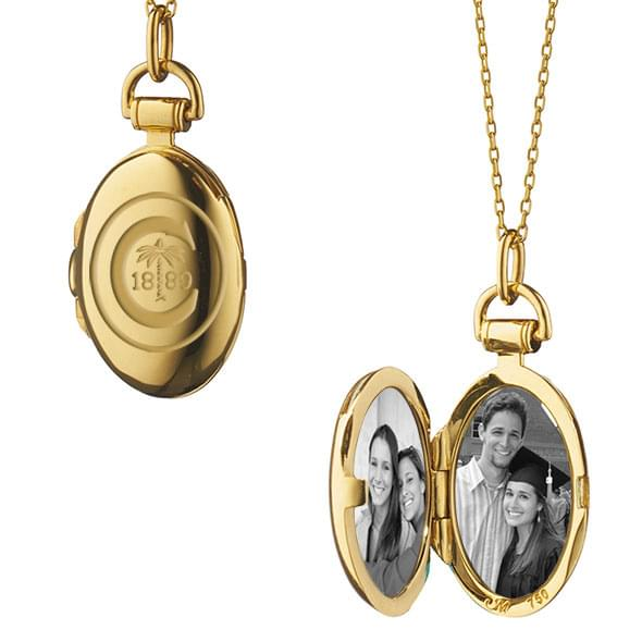 Clemson Monica Rich Kosann Petite Locket in Gold - Image 2