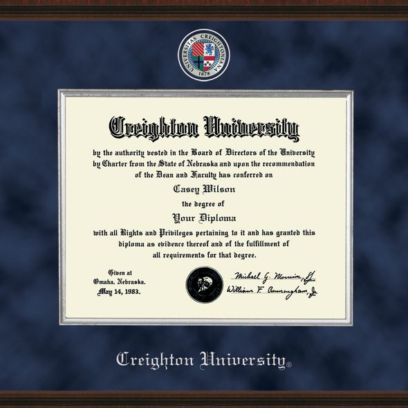 Creighton Diploma Frame - Excelsior - Image 2
