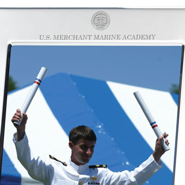 Merchant Marine Academy Polished Pewter 5x7 Picture Frame - Image 2