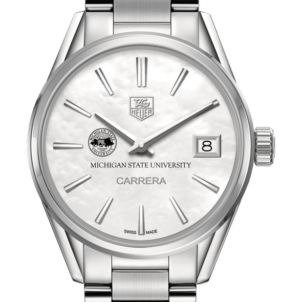 Michigan State Women's TAG Heuer Steel Carrera with MOP Dial