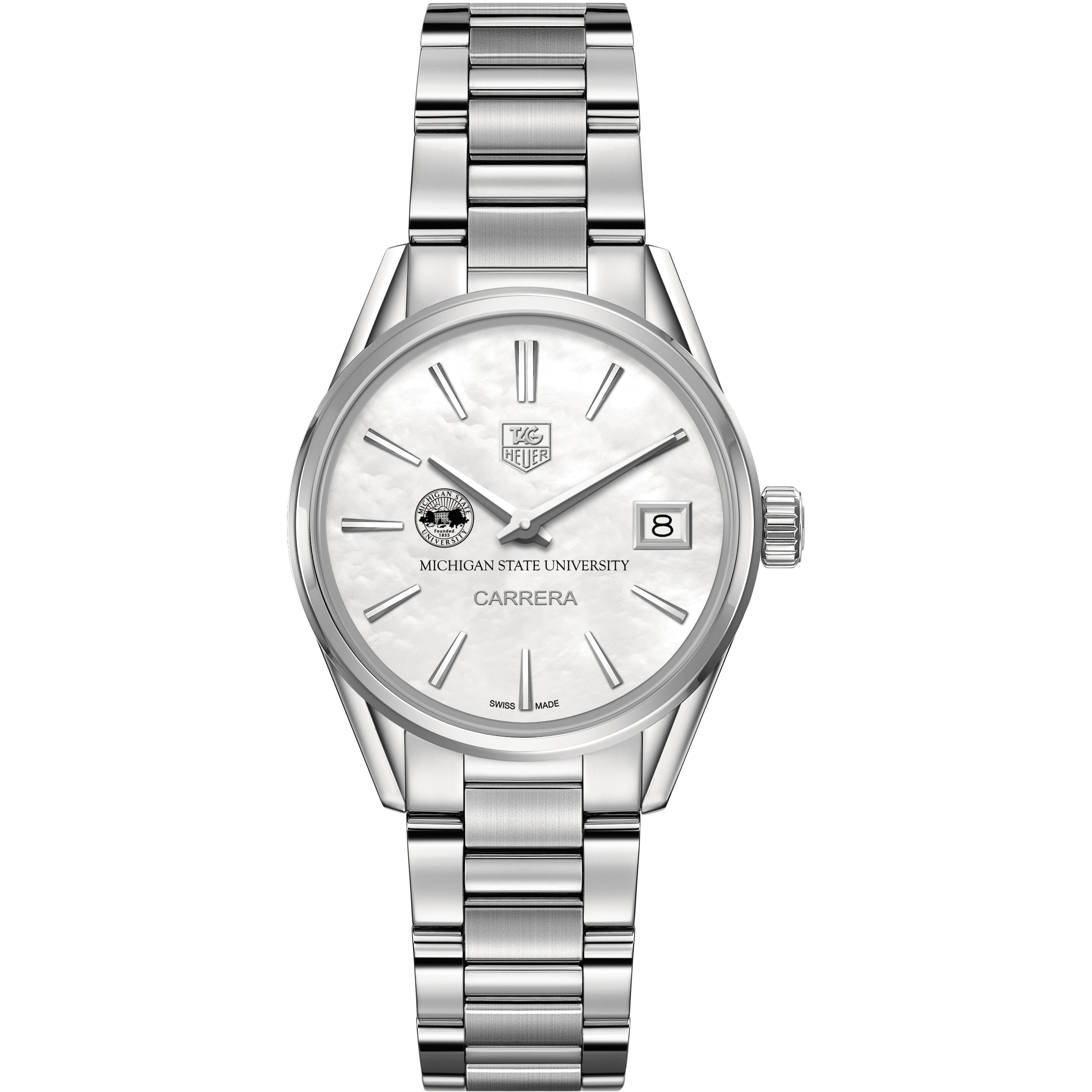 Michigan State Women's TAG Heuer Steel Carrera with MOP Dial - Image 2