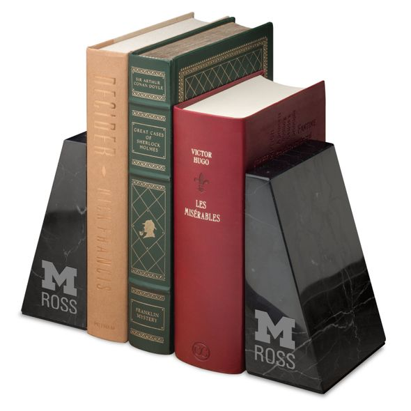 Michigan Ross Marble Bookends by M.LaHart - Image 1