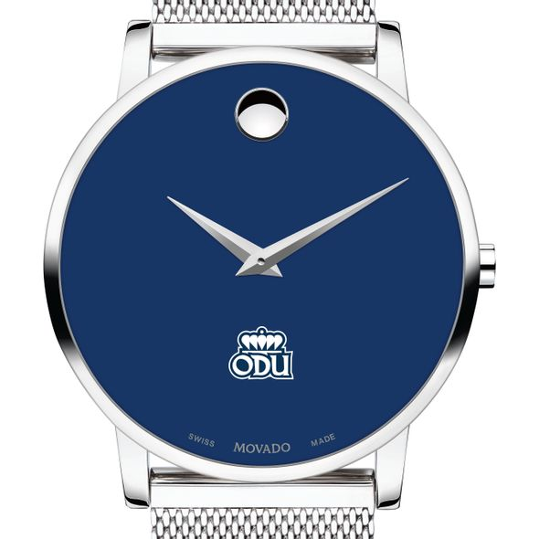Old Dominion University Men's Movado Museum with Blue Dial & Mesh Bracelet