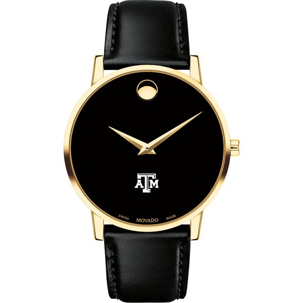 Texas A&M University Men's Movado Gold Museum Classic Leather - Image 2
