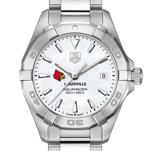 University of Louisville Women's TAG Heuer Steel Aquaracer w MOP Dial