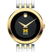 Michigan Ross Women's Movado Esparanza Two-Tone Museum with Bracelet