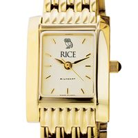 Rice University Women's Gold Quad with Bracelet