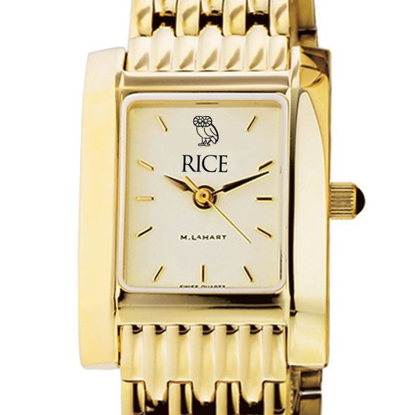 Rice University Women's Gold Quad with Bracelet
