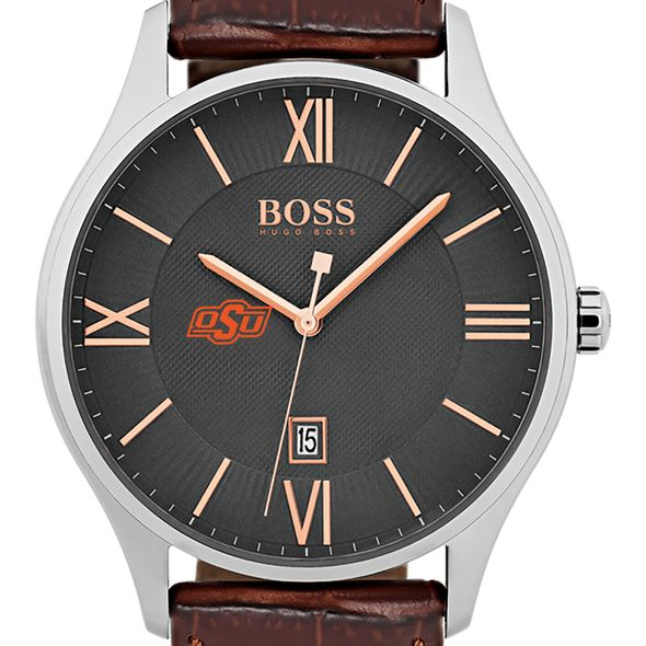 Oklahoma State University Men's BOSS Classic with Leather Strap from M.LaHart