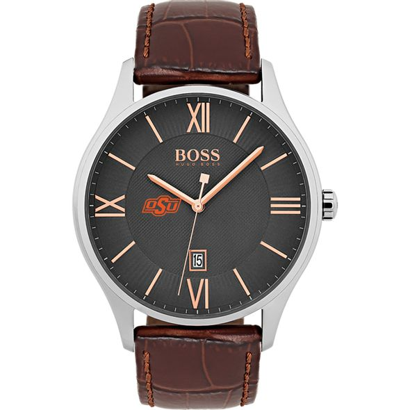 Oklahoma State University Men's BOSS Classic with Leather Strap from M.LaHart - Image 2