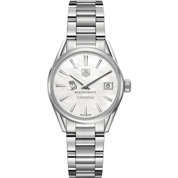 Rice University Women's TAG Heuer Steel Carrera with MOP Dial - Image 2