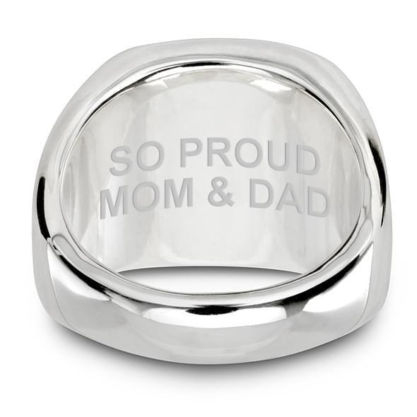 Citadel Sterling Silver Round Signet Ring - Image 5
