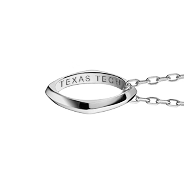 Texas Tech Monica Rich Kosann Poesy Ring Necklace in Silver - Image 3