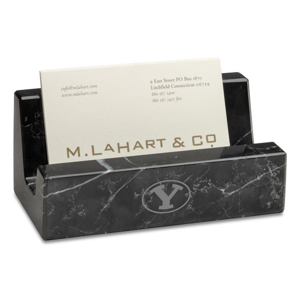 BYU Marble Business Card Holder