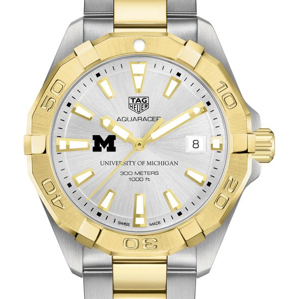 University of Michigan Men's TAG Heuer Two-Tone Aquaracer