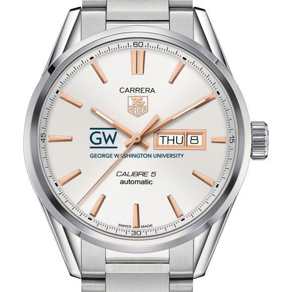 George Washington University Men's TAG Heuer Day/Date Carrera with Silver Dial & Bracelet